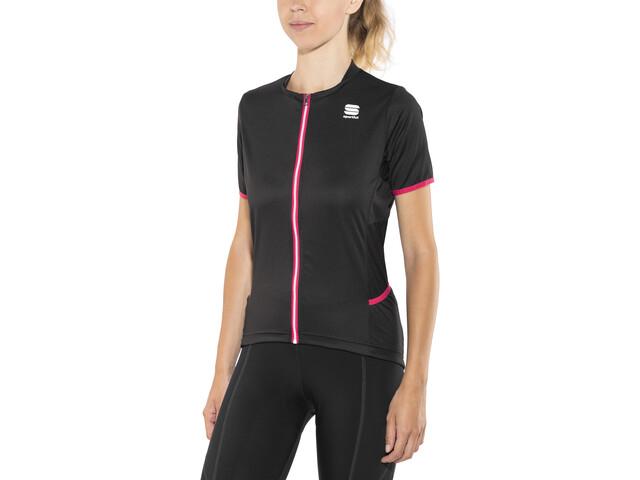 Sportful Luna Koszulka rowerowa z zamkiem błyskawicznym Kobiety, black